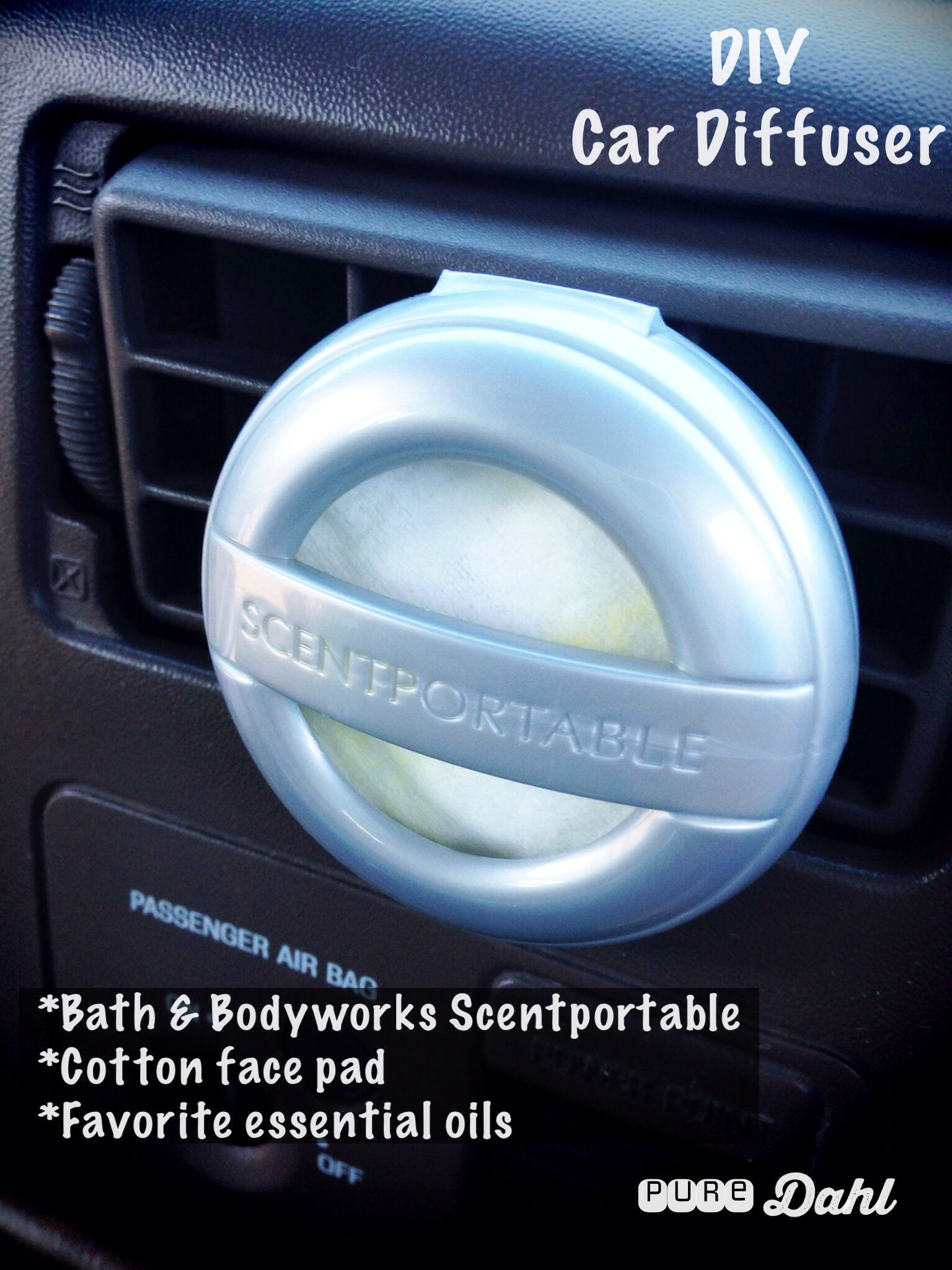 Diy car diffuser using bath bodyworks scentportable www mydoterra com friendsandfamily