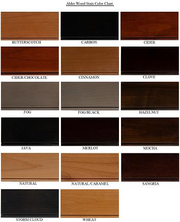 Alder Cabinet Door Colors Wood Stain Colors Staining Wood Staining Cabinets