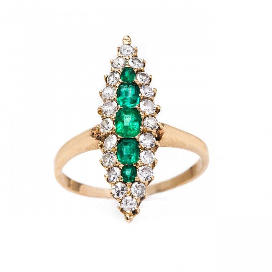 Vintage Emerald Ring | Vintage Victorian Jewelry | Orleans