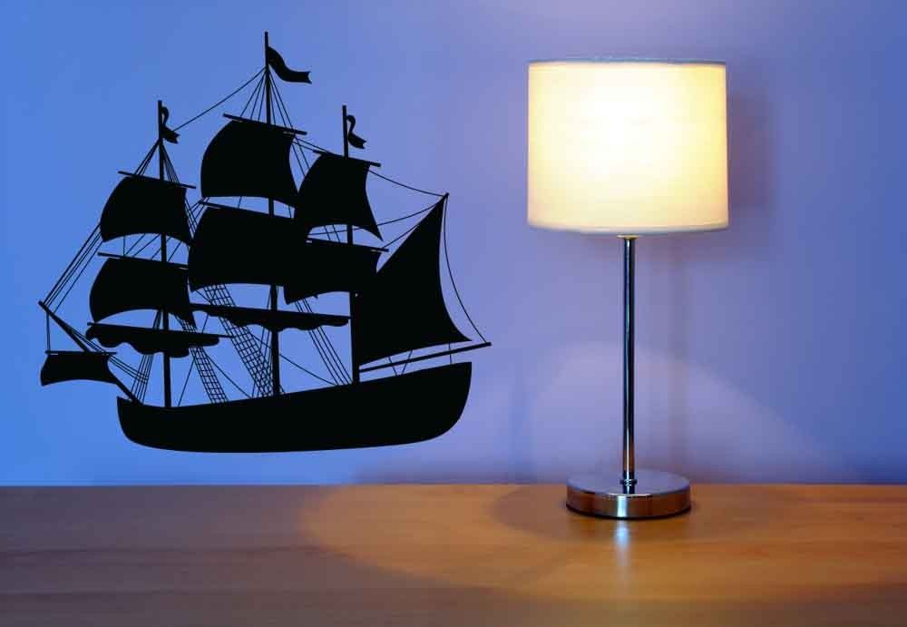 Pirate Ship Ahoy Vinyl Wall Art Decal 38 00 Via Etsy Vinyl Wall Art Sailboat Decor Vinyl Wall Art Decals