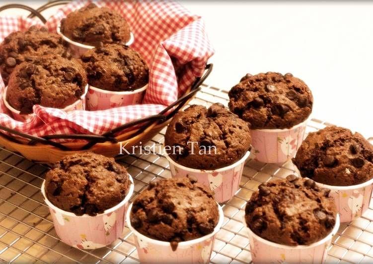 Resep Muffin Coklat Super Nyoklat No Mixer Hasil Tinggi Menjulang Alias High Dome Xd Oleh Tintin Rayner Resep Resep Makanan Dan Minuman Makanan
