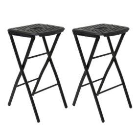 Admirable Mity Lite Flex One Folding Stool Black 2 Pack Sams Creativecarmelina Interior Chair Design Creativecarmelinacom