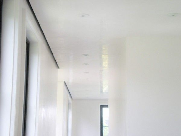 High Gloss White Venetian Plaster On The Walls And Ceiling Open Up E Work By Coulter Designs