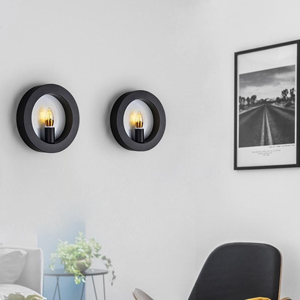 Nordic Indoor Wall Lamps Retro Led Living Room Tv Background Wall