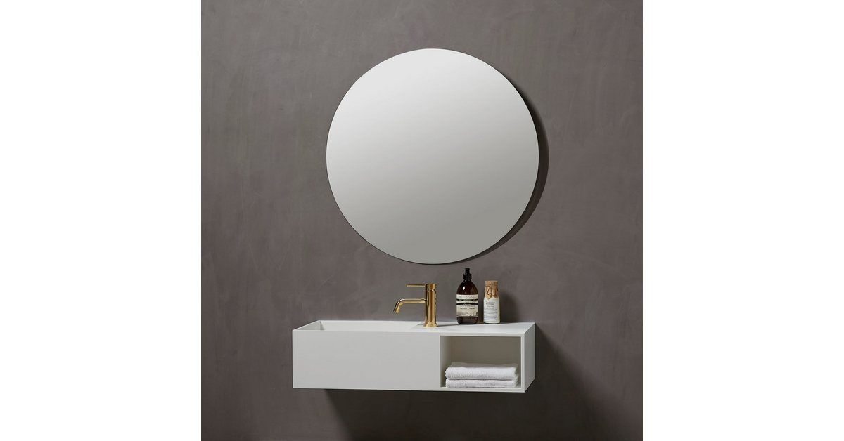 Badspiegel Herning Rund O 80 Cm Moderne Und Energiesparende