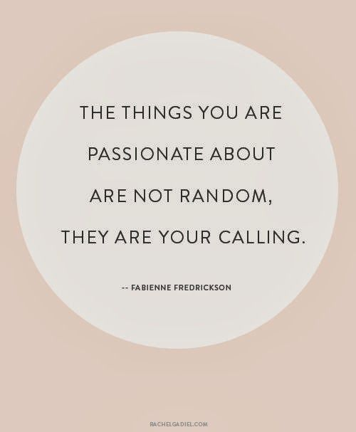 your #calling #passion # business