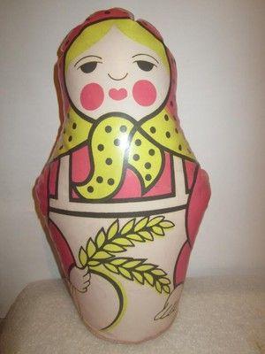 Надувная кукла матрёшка. Советские игрушки - http://samoe-vazhnoe.blogspot.ru/