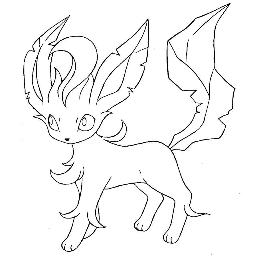 Leafeon leafeon pokemon coloring pages