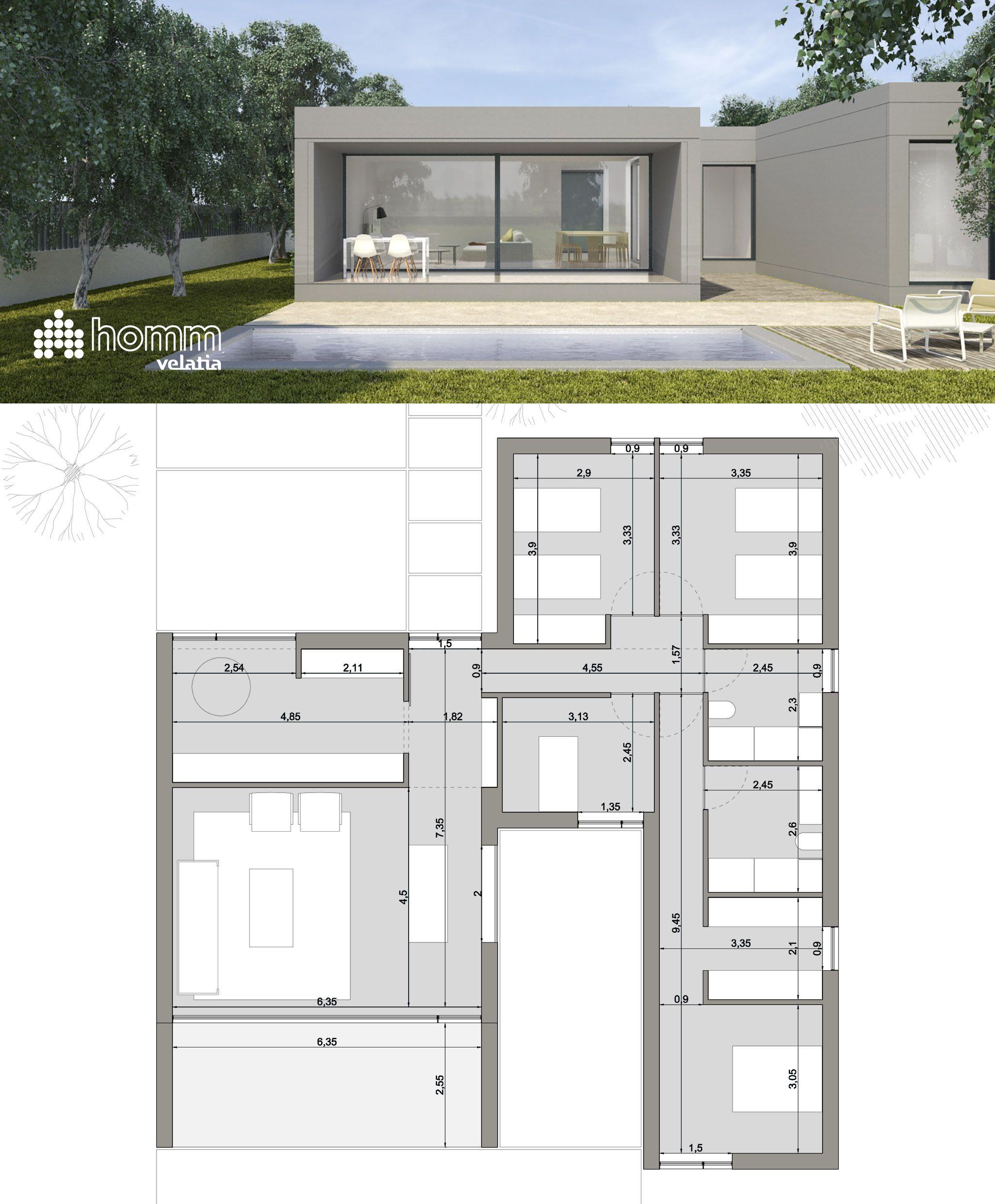 Qu te parece esta casa de 140 m2 y 17 50 m2 de porche - Que es un porche en arquitectura ...