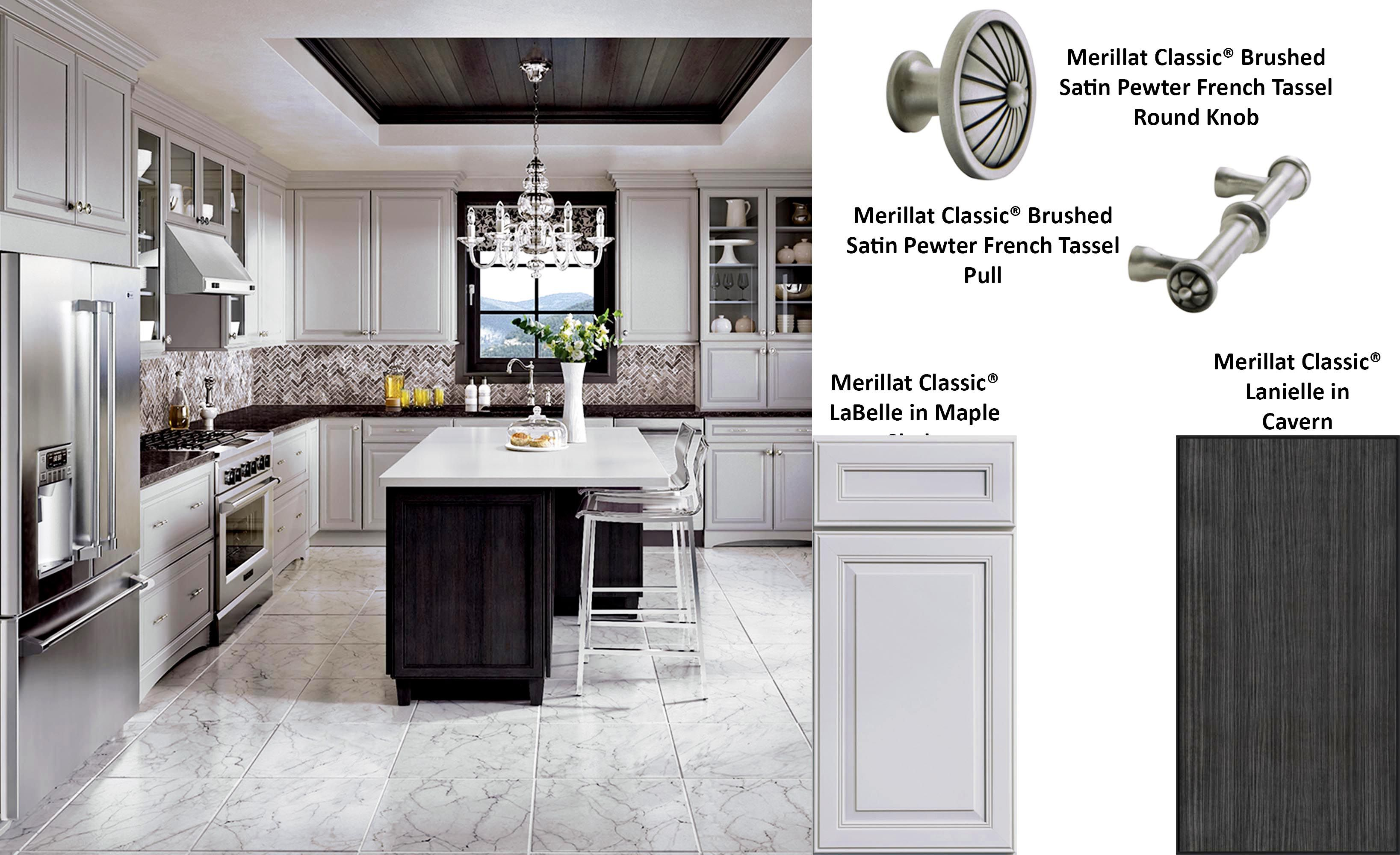 Merillat Classic Labelle In Maple Shale Grey Kitchen Designs Kitchen Cabinets Parts Merillat Cabinets