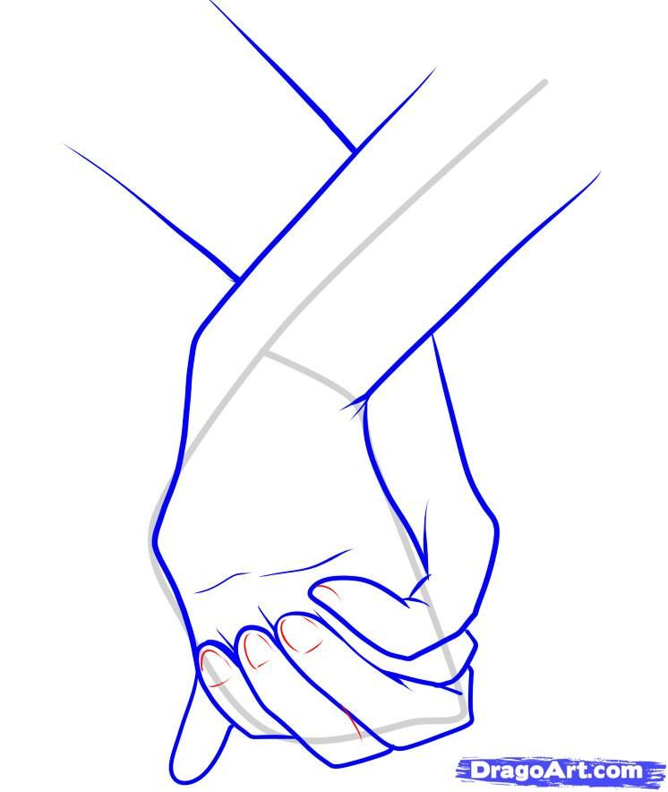 Drawings Of Hands How To Draw Holding Hands Step 11