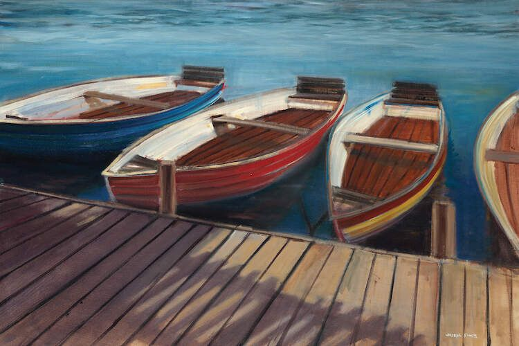 Row Boats Canvas Art Print By Joseph Cates Icanvas In 2020 Row Boats Boat Wall Art Boat Painting