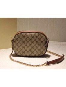 05855298dd1 Gucci 409535 GG Supreme Mini Chain Bag F W 2015