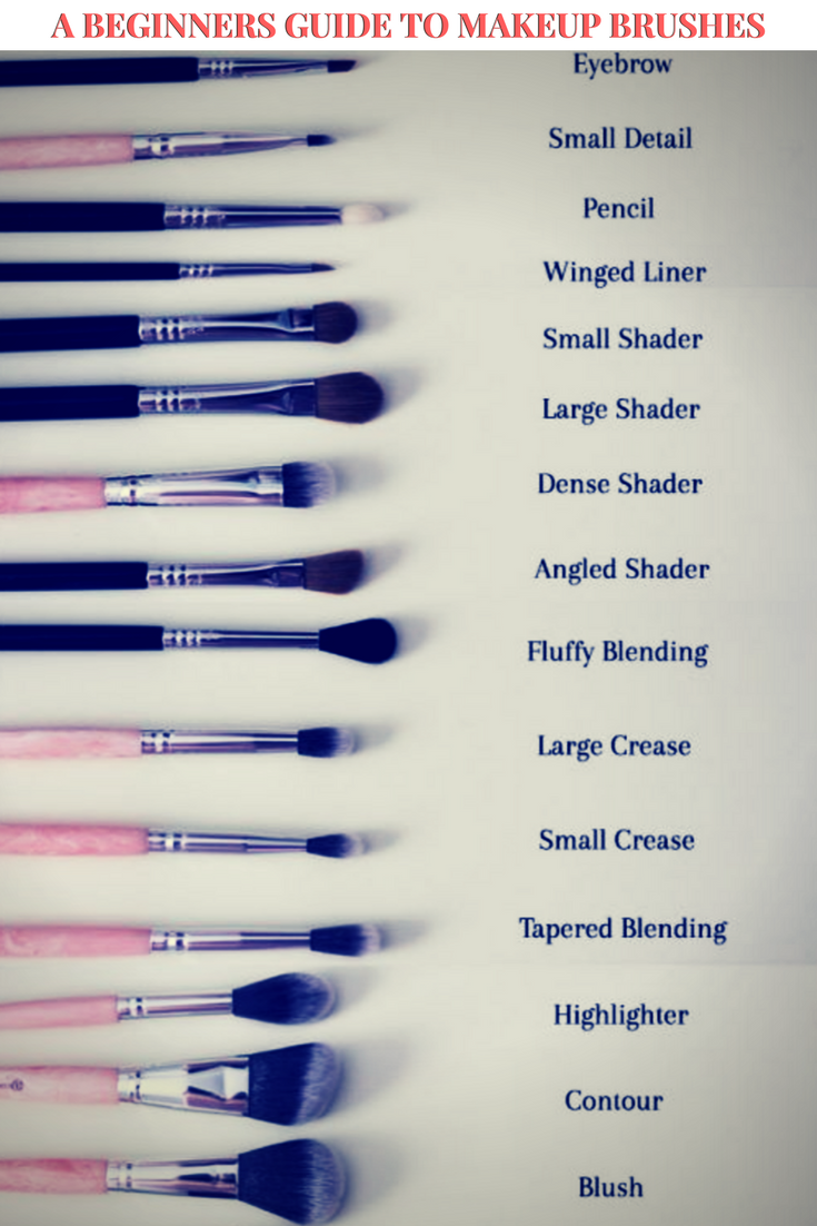A beginners guide to makeup brushes. Different makeup