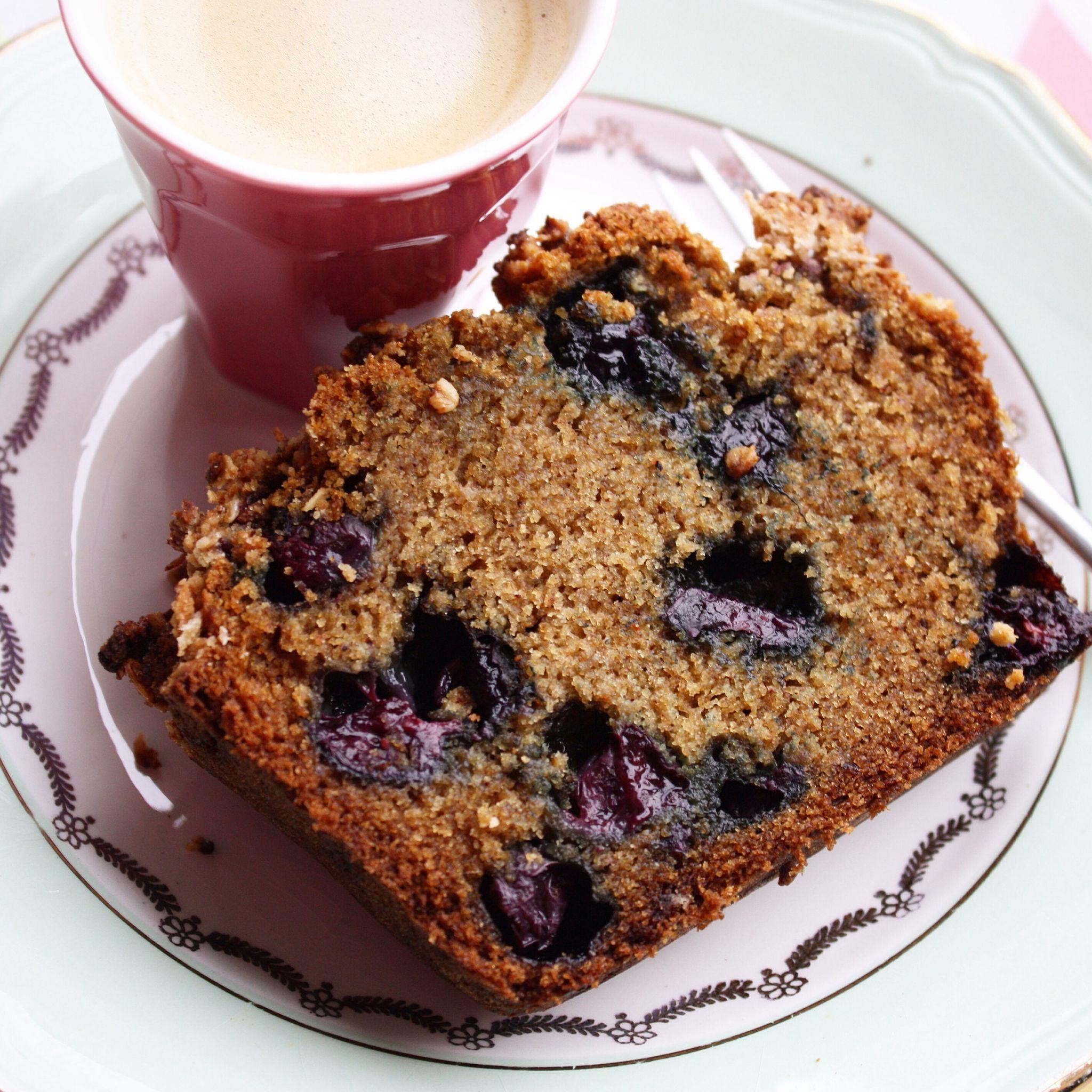 Coffee cake aux myrtilles (vegan) Autour d'un plat
