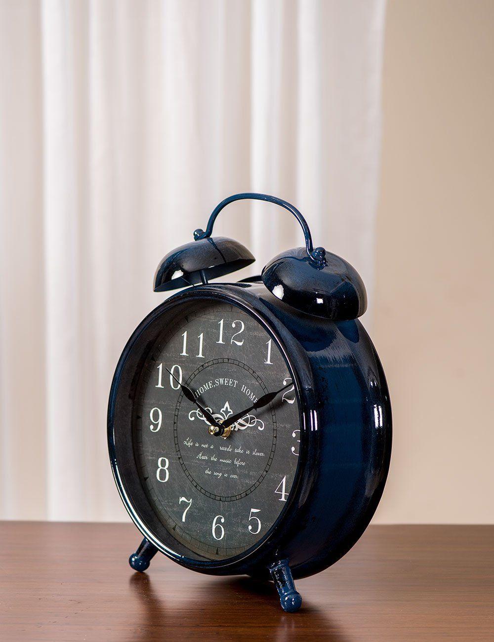 Vintage Faux Alarm Table Clock