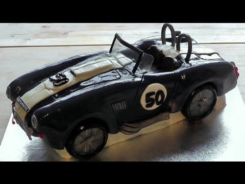 Car Birthday Cake AC Cobra How to Make Novelty Car aeroplanes