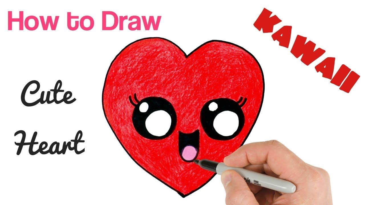 How To Draw A Heart Cute And Easy Step By Step Easy Drawings For Kids Kawaii Drawings Drawings