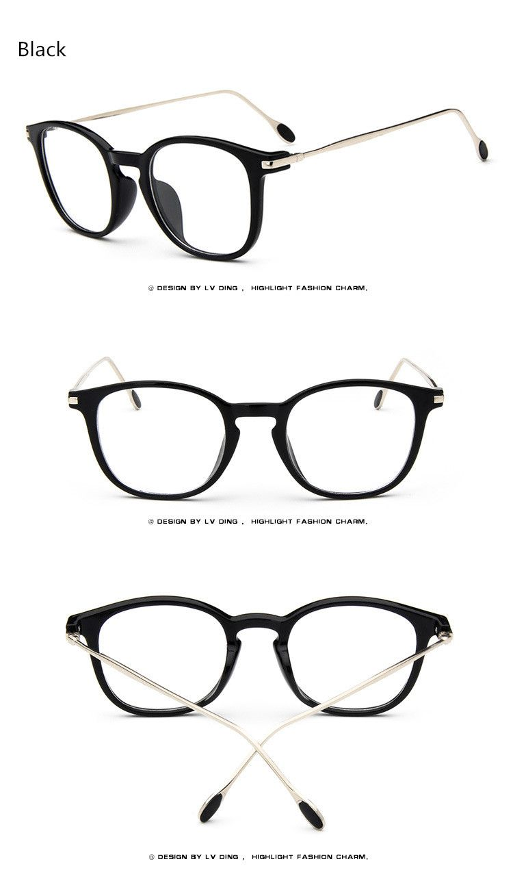 eadfe0cc721 Brand Women Retro Eyeglasses Man Optical Fashion Round Plain Glass Frames  Reading Glasses Oculos de Grau Feminino Metal What a beautiful image Visit  our ...