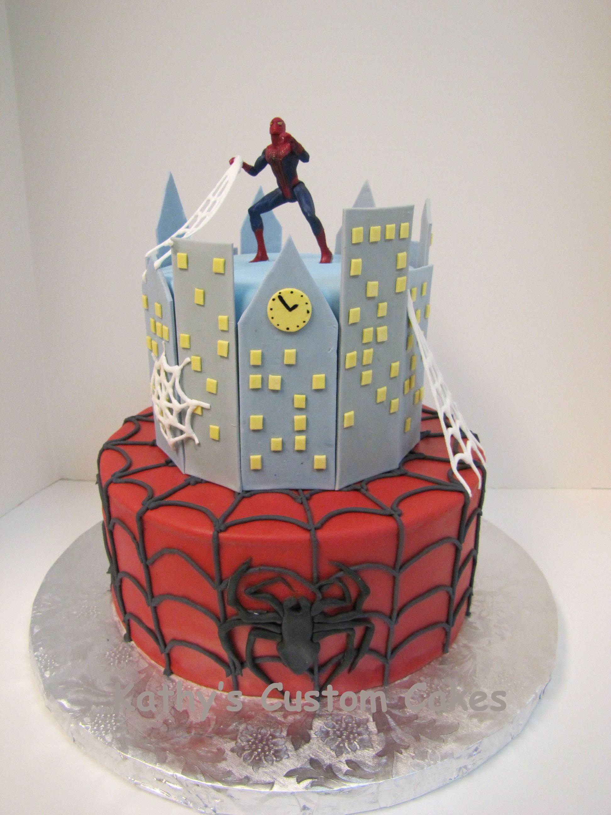 Super Heroes / Cartoon Characters Spiderman cake for a