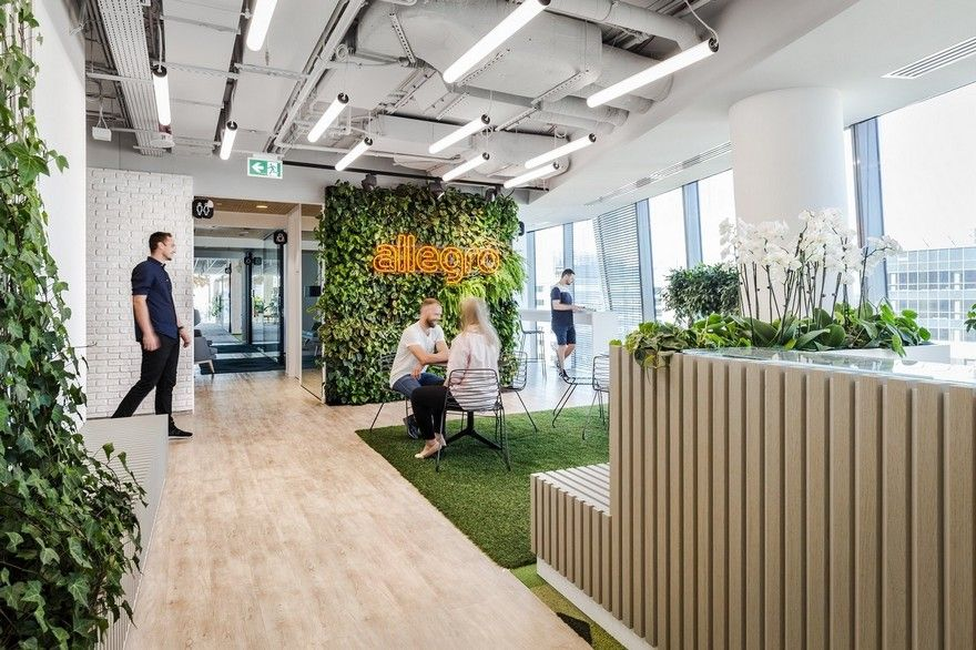 Allegro Office In Warsaw By Workplace Solutions Green Office Design Office Design Eco Design Interior