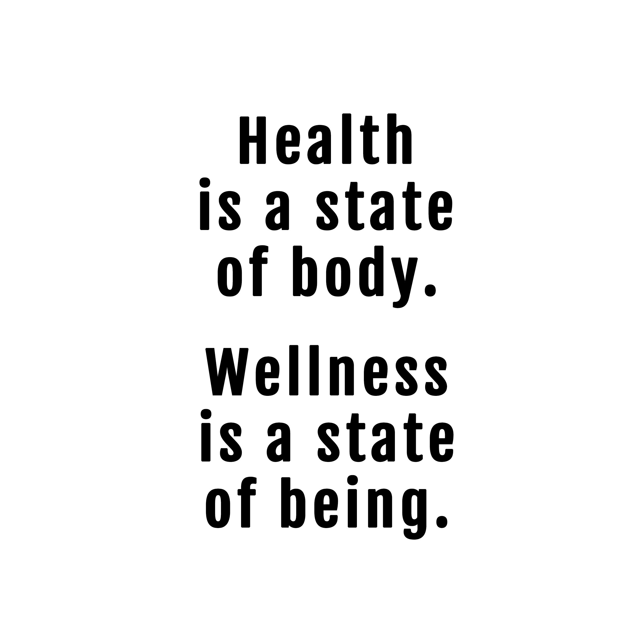 The difference between the two! health wellness balance