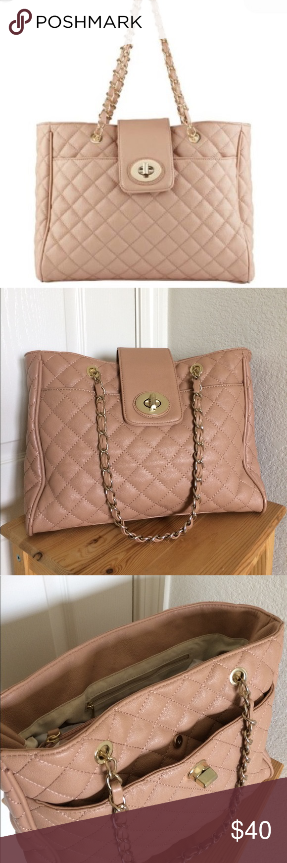 "Blush Quilted Chain Bag Excellent condition. Used once. Measures 14""x5""x11"" Aldo Bags Shoulder Bags"