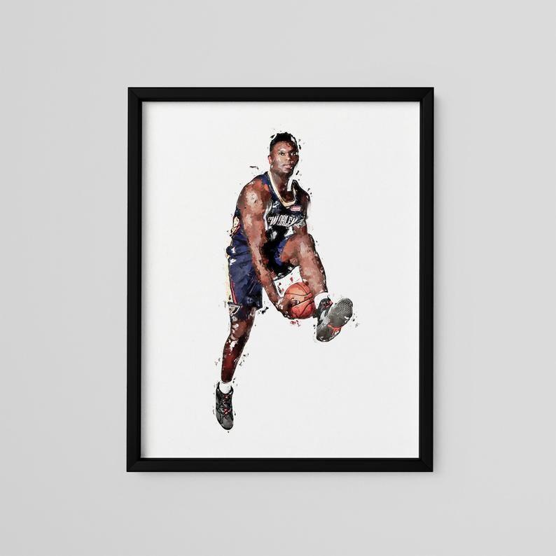 Zion Williamson Poster New Orleans Pelicans Art Print