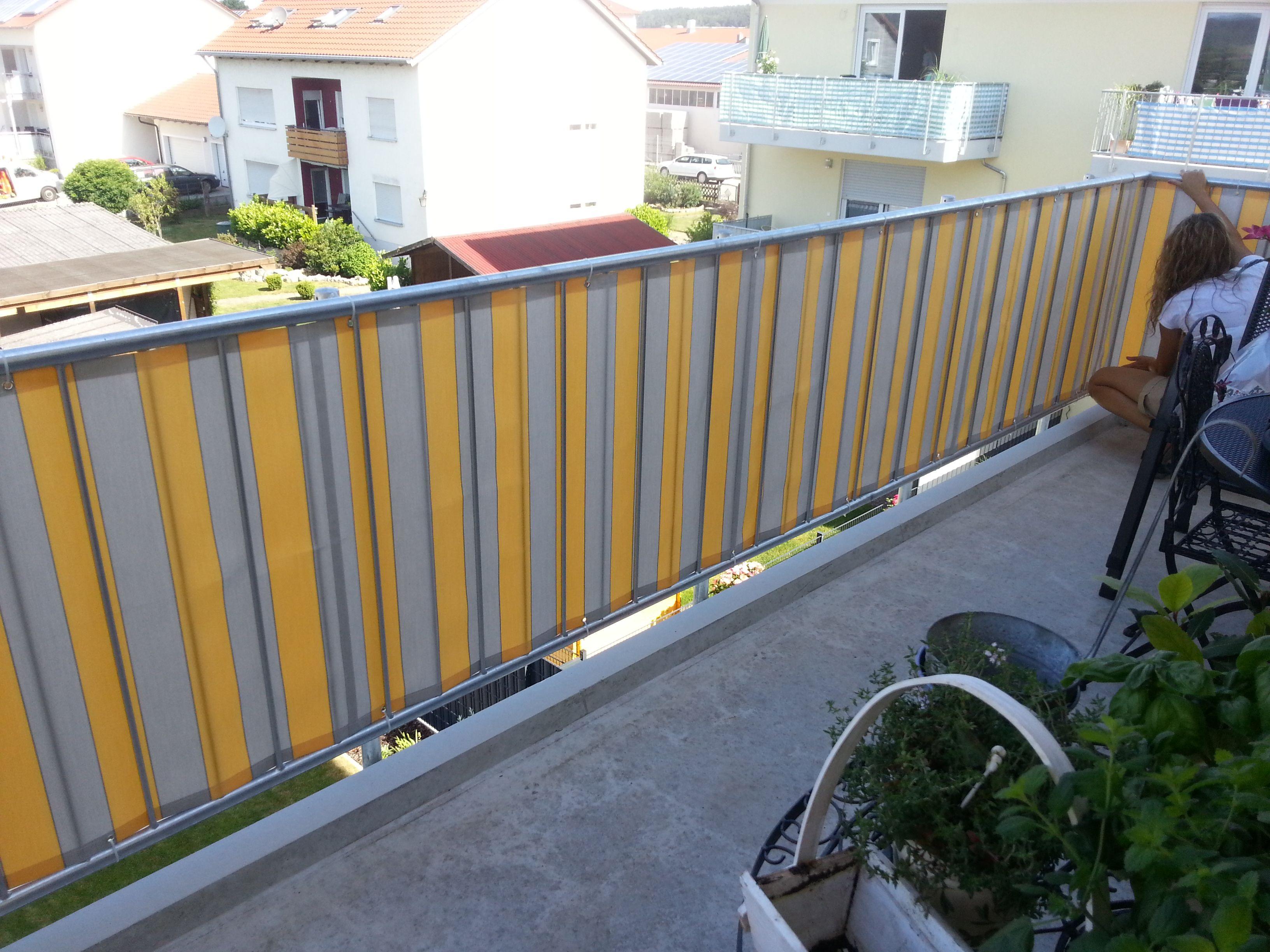 die balkonbespannung ist eine andere art, um eigenen balkon mit, Garten und bauen