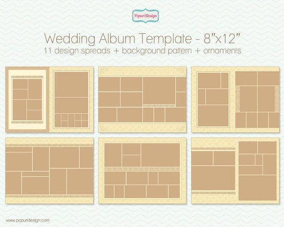 Wedding Album Template Kit For Photographers X By Popuridesign