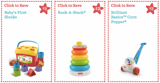 LOTS of High Value FisherPrice Toys Coupons… Hip2Save