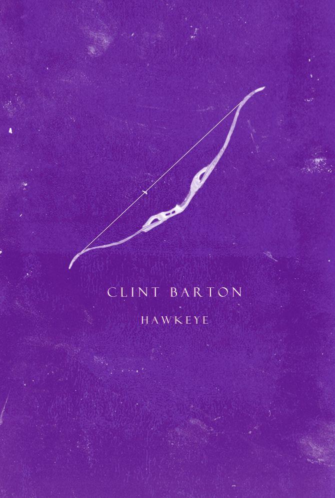 The Avengers Characters Minimalist Posters→ Clint Barton: Hawkeye