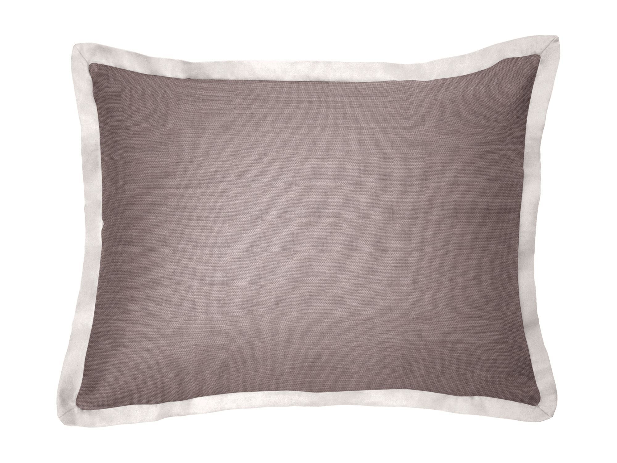 Custom Pillow Sham with Contrast Flange | Loom Decor | Loom Decor