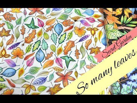 Secret Garden Coloring Book | My leaves and flowers | Jardim Secreto - YouTube