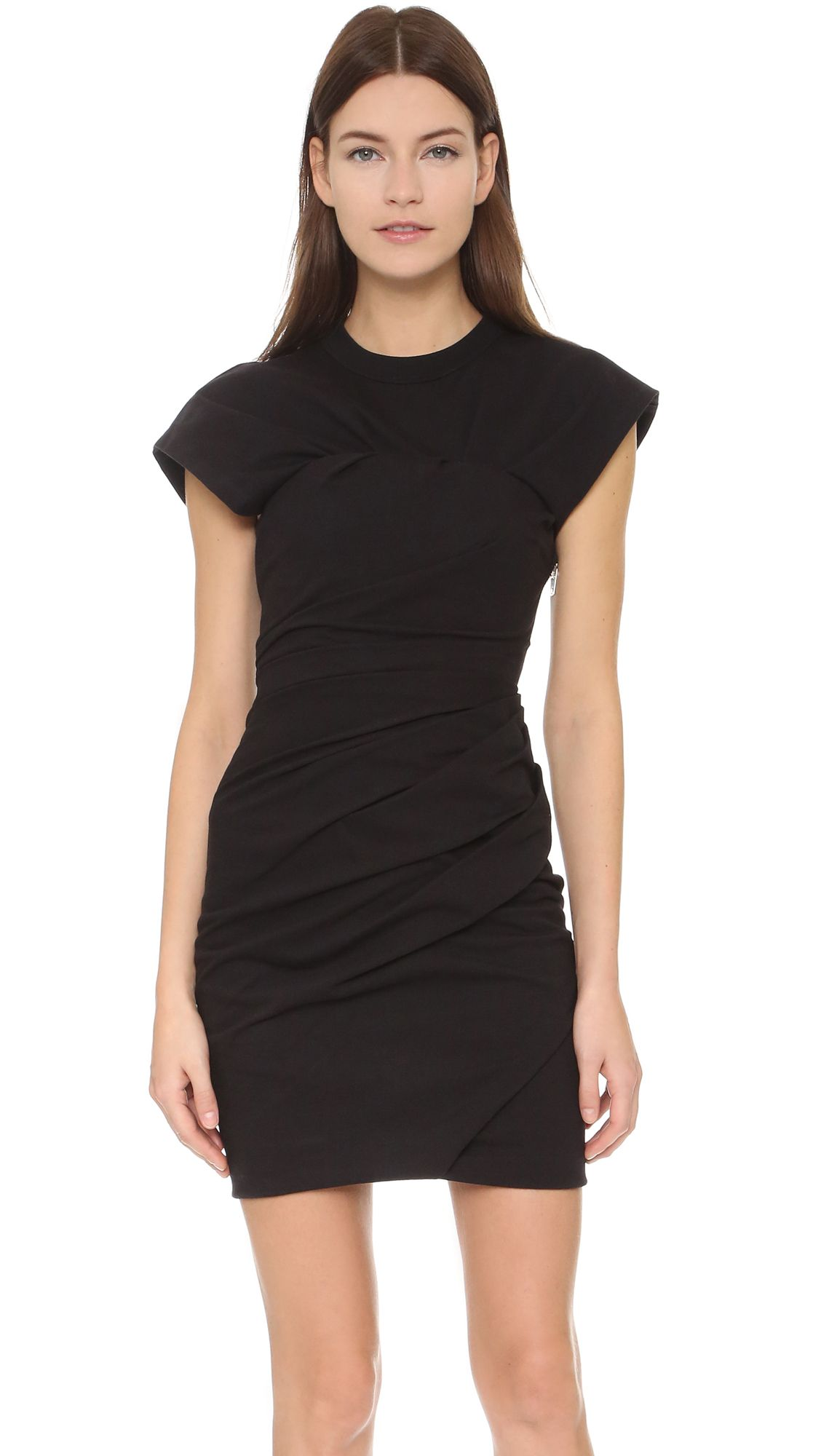 Shop Alexander Wang Draped Bustier T Shirt Dress At Modalist