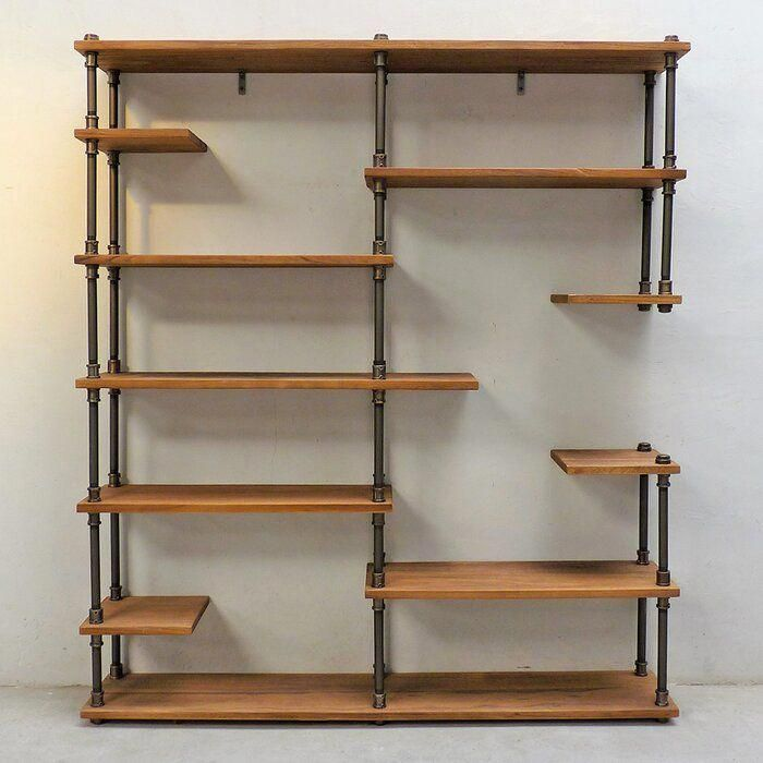 Cirillo Industrial Mid-Century Library Bookcase