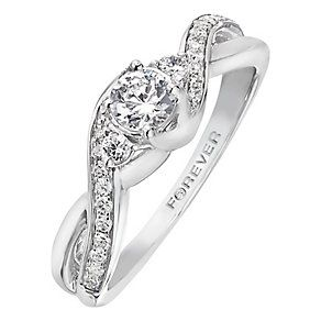 The Forever Diamond 18ct White Gold 1 Carat Diamond Ring Product
