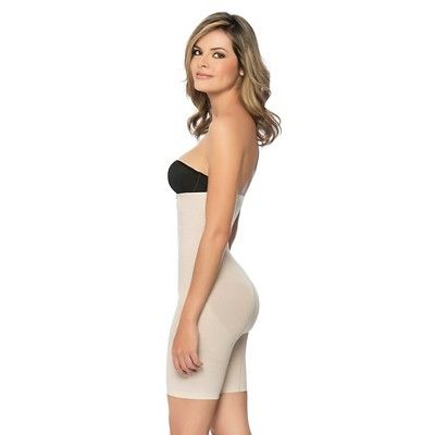 08ffa7980 Annette Women s Faja Extra Firm Control High Waisted Mid-Thigh Shaper with Invisible  Zipper - Beige M