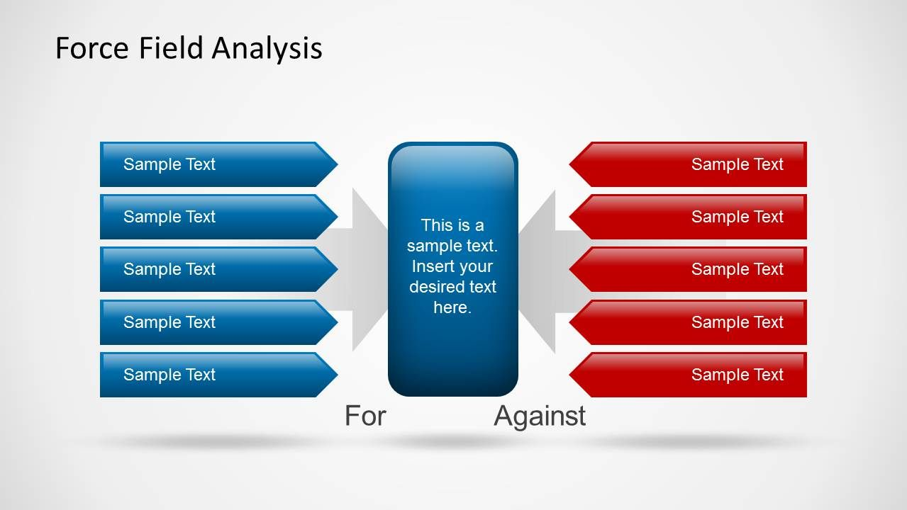 Force Field Analysis Powerpoint Template Slidemodel Powerpoint Templates Powerpoint Analysis Force field analysis template powerpoint
