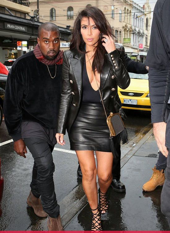 Kim Kardashian Flaunts Serious Cleavage With Kanye West in ...