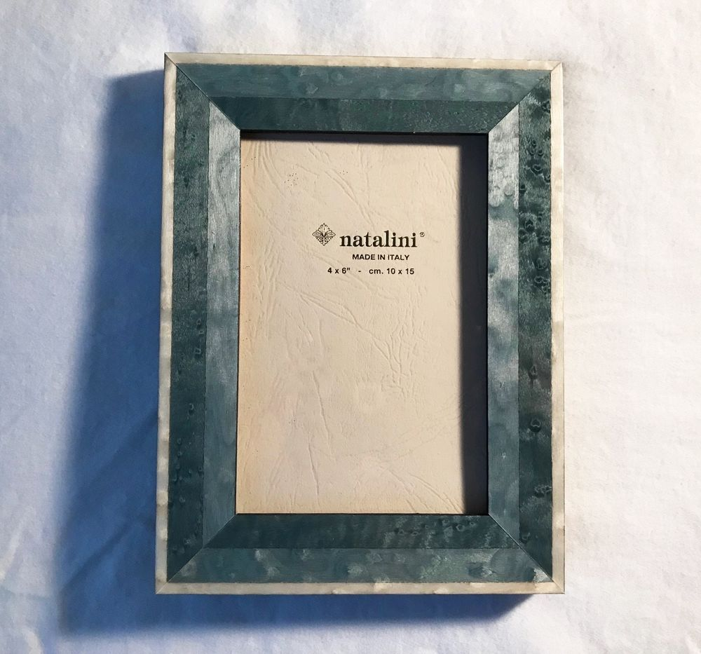 Natalini Picture Frame 4 X 6 Inch Green And Cream Marquetry Natalini Frame Picture Frames Pictures