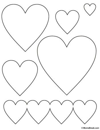 free heart stencil printable Sewing Class Heart stencil, Heart