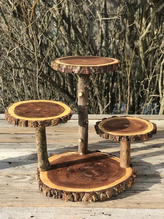 Große Log Elm Holz rustikale Kuchen 65 Cupcake | Etsy