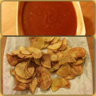 La fantasia in cucina: Chips di patate alla paprika con salsa alla senape...