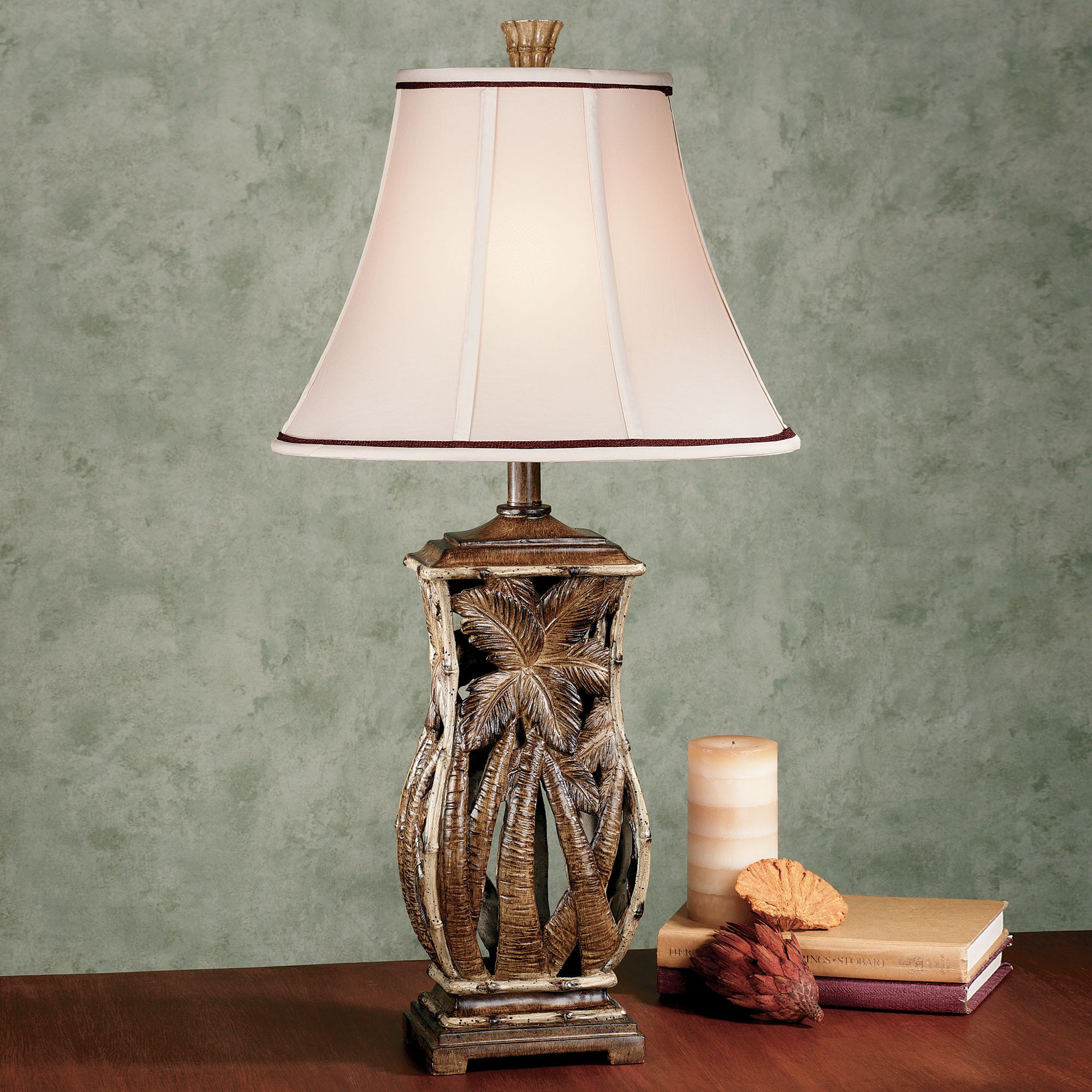 Lovely Cocoa Beach Tropical Table Lamp With CFL Bulb