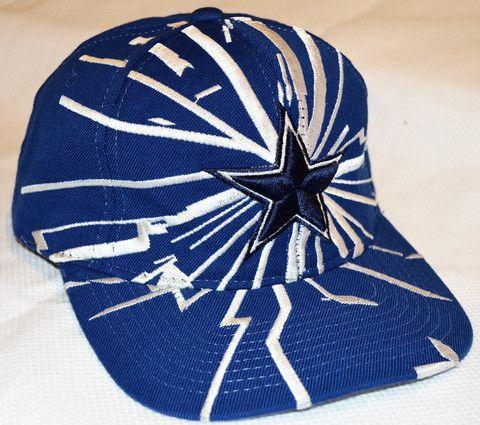 9b3a8a5f8 Vintage 90s STARTER PRO LINE NFL Dallas Cowboys Lightning Snapback Hat