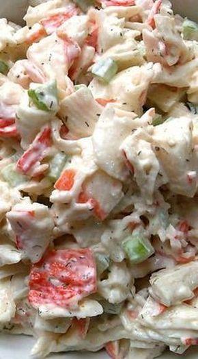 Seafood Pasta Salad  Free Recipe below
