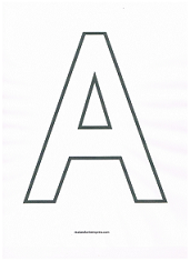 image regarding Printable Letter a called Hefty block alphabet letters for coloring internet pages or letter