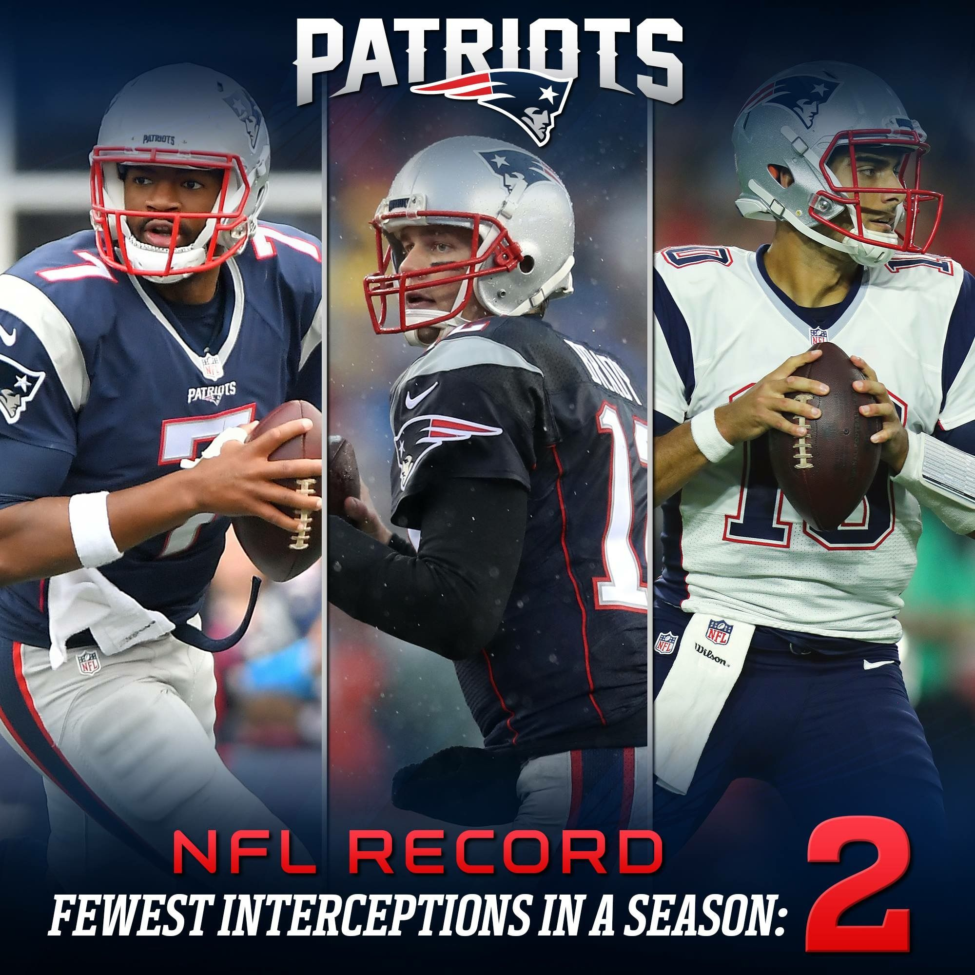 3 Quarterbacks 2 Interceptions Nfl Record Patriots