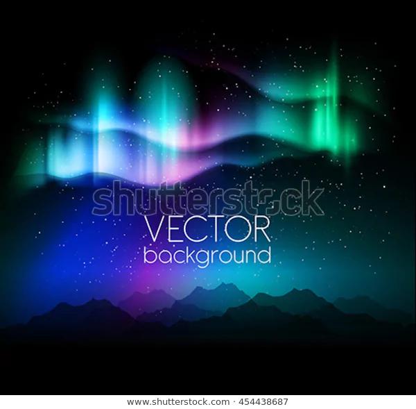 Aurora Borealis Abstract Background Vector Illustration Stock Vector Royalty Free 454438687 Icon0 Abstract Backgrounds Vector Illustration Aurora Borealis